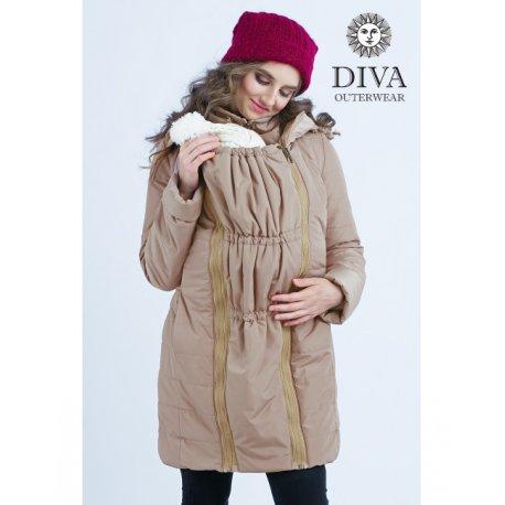 d81e958d9411 Diva Milano babywearing winter coat 4 in 1 Moka - ŠátkoMánie.cz