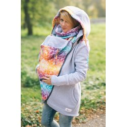 Lenka Babywearing Hoodie Grey with Rainbow Mandala