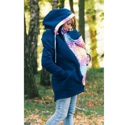 Lenka Babywearing Hoodie blue with Rainbow Mandala