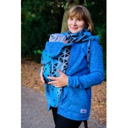 Lenka Babywearing Sweater Hoodie Blue with Sapphire Triangle