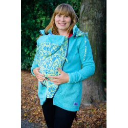 Lenka Babywearing Sweater Hoodie Green with Harmony