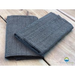 Little Frog Drool Pads Graphite Herringbone