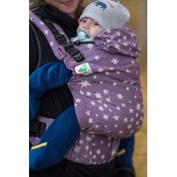 MoniLu ergonomic babycarrier UNI (Adjustable) Plum Stars