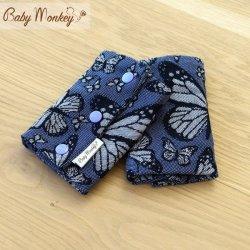 BabyMonkey Drool Pads - Butterfly - Viola