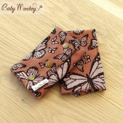 BabyMonkey Drool Pads - Butterfly - Arancio