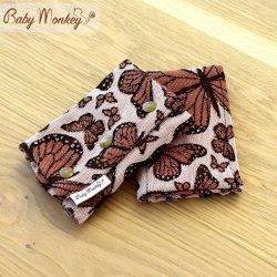 BabyMonkey Drool Pads - Butterfly - Arancio Reverse