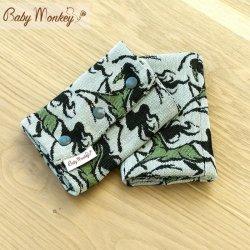 BabyMonkey Drool Pads - Wild Horse - Sage Reverse