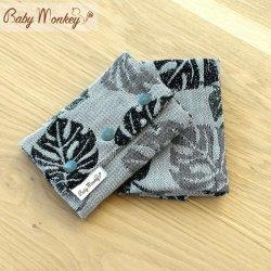 BabyMonkey Drool Pads - Rainforest - Rosemary Reverse