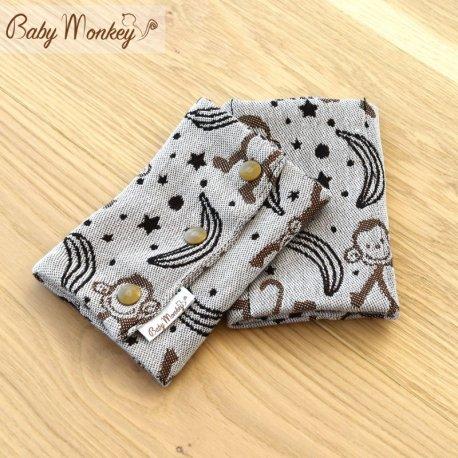 BabyMonkey Drool Pads - LittleMonkey - Marrone Reverse