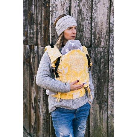 Lenka ergonomical babycarrier - 4ever - Folky - Yellow