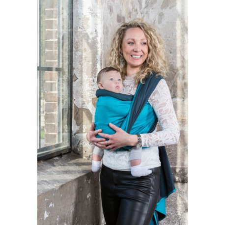 Pure Baby Love - Luxury - Dark Grey / Turquoise Double