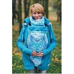 Lenka Mikina svetrová modrá s Modrou mandalou