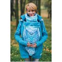 Lenka Babywearing Sweater Hoodie Blue with Blue mandala