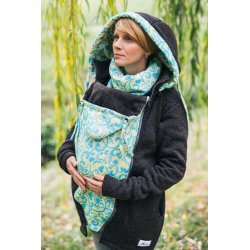 Lenka Babywearing Sweater Hoodie Black with Yellow Harmony