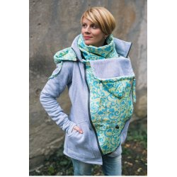 Lenka Babywearing Hoodie Grey with Yellow Harmony