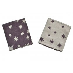 MoniLu Drool Pads Plum Stars