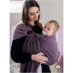 Luna Dream ring-sling Little Hearts Purple