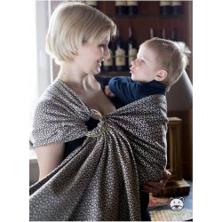 Luna Dream ring-sling Little Hearts Ecru Bamboo