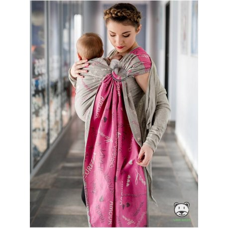Luna Dream ring-sling Words Of Love Pink