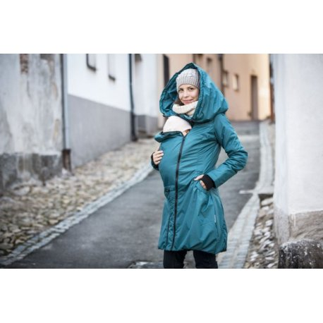 Angel Wings Winter Coat Dark Turquoise