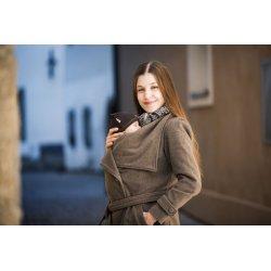 Angel Wings Woolen coat brown