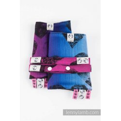 LennyLamb Drool Pads and Reach Straps Set Lovka Pinky Violet