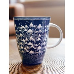 Oscha Mug Misty Mountains Indigo