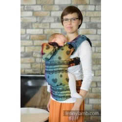 LennyLamb LennyUp adjustable ergonomic carrier Rainbow Lace Dark