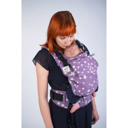 MoniLu ergonomic babycarrier UNI START Plum Stars