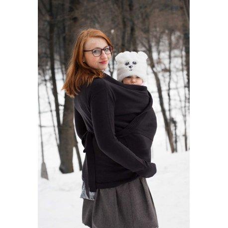 Loktu She babywearing sweater - merino - antracite