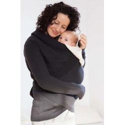 Loktu She babywearing sweater - merino - antracite