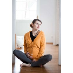 Loktu She babywearing sweater - merino - yellow