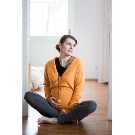 Loktu She babywearing sweater - merino - yellow