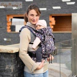 BabyMonkey ergonomic carrier Regolo Peahen Blu