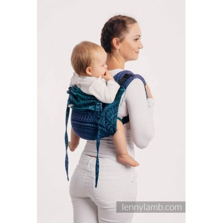 LennyLamb Onbuhimo back carrier - Peacock's Tail - Provance