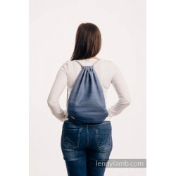 LennyLamb Bag SackPack Little Herringbone Ombre Blue