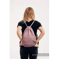 LennyLamb Bag SackPack Little Herringbone Ombre Pink
