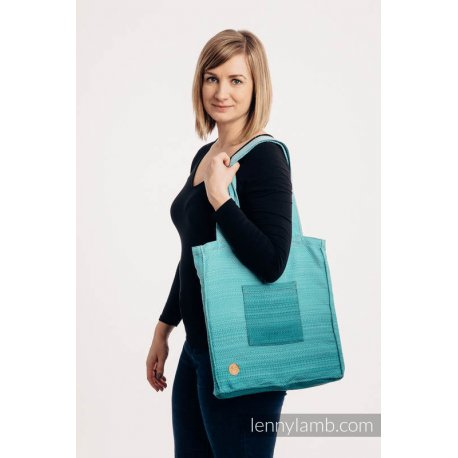 LennyLamb Shoulder Bag - Little Herringbone Ombre Teal