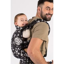 Isara adjustable ergonomic carrier The One - Philodendra Black Denim