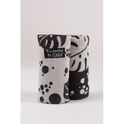 Isara Teething Pads Philodendra Black Denim