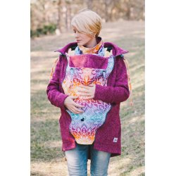 Lenka Babywearing Sweater Hoodie Rose with Rainbow mandala