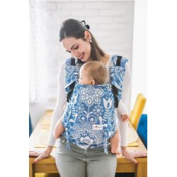 Lenka ergonomical babycarrier - 4ever - Folk - blue