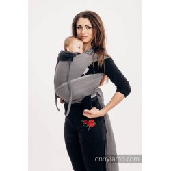LennyLamb WRAP-TAI Little Herringbone Ombre Grey
