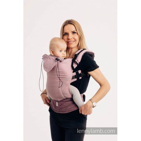 LennyLamb ergonomic carrier Little Herringbone Ombre Pink