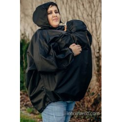 LennyLamb Babywearing raincoat - black