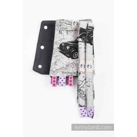LennyLamb Drool Pads and Reach Straps Set Road Dreams