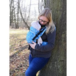MoniLu ergonomic babycarrier UNI START Stars Jeans