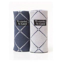 Isara Teething Pads Diamonda Blue Ink