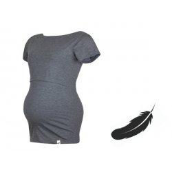 Angel Wings T-shirt for breastfeeding Grey melange