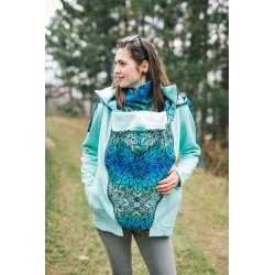 Lenka Babywearing Sweater Hoodie Green with Mandala Aurora
